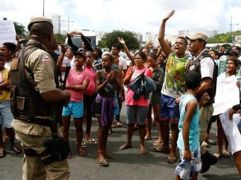 Novo protesto motivou o comando da PM a afastar policiais e instaurar inquérito - Foto: Luciano da Matta | Ag. A TARDE
