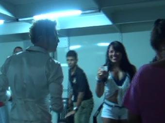 Igor Kannário aparece ao lado de Lívia no camarim antes do show - Foto: Divulgação