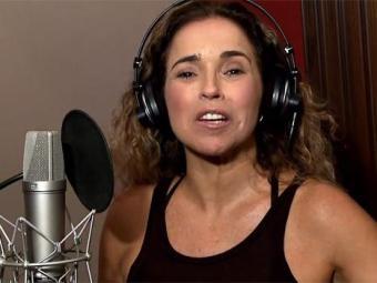Daniela Mercury durante a gravação do clipe