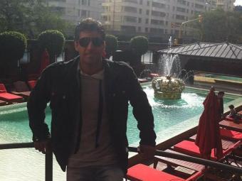 Diego Pombo postou foto do mesmo hotel que Alinne jantou - Foto: Reprodução   Twitter