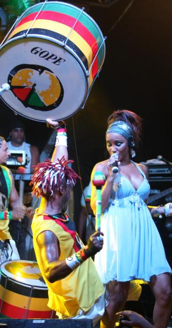 O grupo afro sempre marcou presenças nas comemorações dos jogos no Mundial - Foto: Edgar de Souza   Divulgação