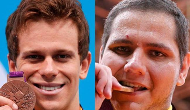 Cesar Cielo e Rafael Silva aumentaram para seis as medalhas brasileiras em Londres 2012 - Foto: Jorge Silva / Agência Reuters e Kim Kyung-Hoon / Agência Reuters