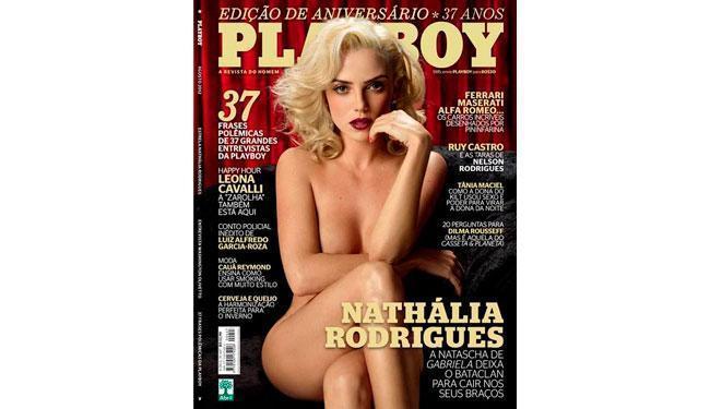 Nathália Rodrigues é a capa da edição de 37 anos da revista masculina - Foto: Divulgação