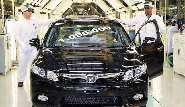Civic marca o recorde de produção - Foto: Divulgação | Honda