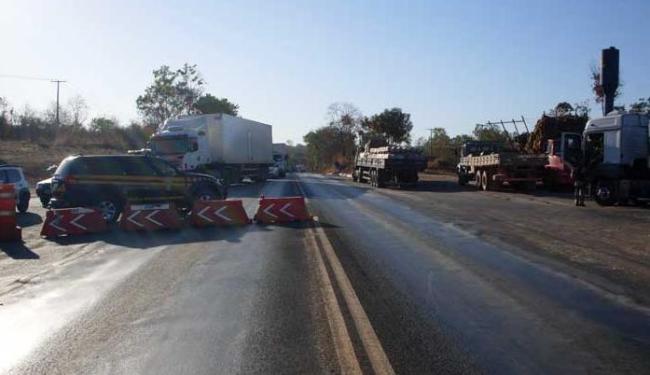 Policiais rodoviários federais de Barreiras também participaram de protesto - Foto: Divulgação | PRF