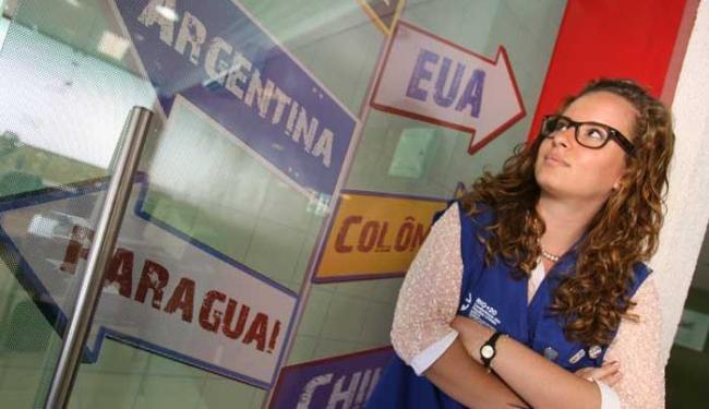 Carol Torres, que estuda Relações Internacionais, quer garantir sua vaga para Copa - Foto: Mila Cordeiro | Ag. A TARDE