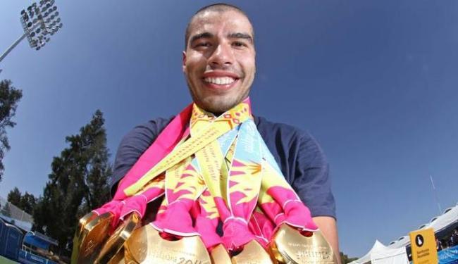 Nadador Daniel Dias, nove medalhas em Pequim, é o maior astro brasuca em Londres - Foto: PCB   Divulgação