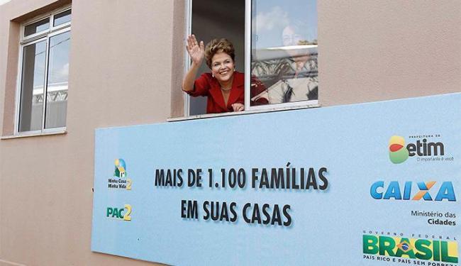 Presidente Dilma durante uma cerimônia de entrega das unidades habitacionais em MG - Foto: Roberto Stuckert Filho   Presidência da República