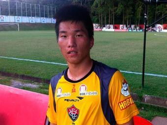 Wonbum Lee, 19 anos, foi destaque na Taça Belo Horizonte de Futebol Junior - Foto: Assessoria do Esporte Clube Vitória / Divulgação