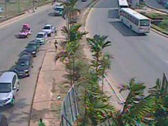No Lucaia, o trânsito está tranquilo nos dois sentidos - Foto: Reprodução | Transalvador