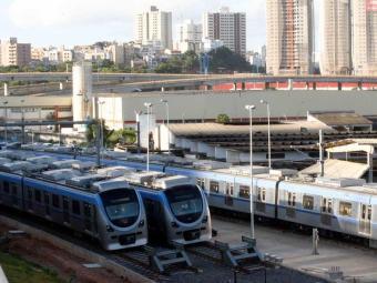 Estudo prevê uma demanda de 51 mil passageiros na hora de pico do metrô de Salvador - Foto: Arestides Baptista   Arquivo   Ag. A TARDE