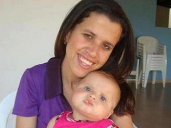 Luciana Lima tinha uma filha de três anos, Laura - Foto: Reprodução