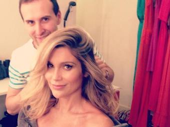 A atriz cuidou do visual no salão de Marcos Proença nesta quarta-feira - Foto: Reprodução   Instagram