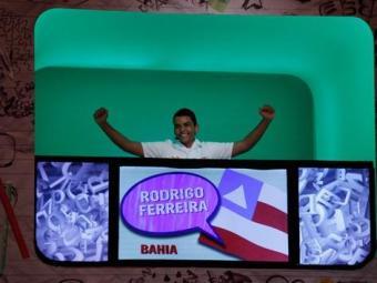 Rodrigo Ferreira foi o 1º a se classificar para a final do concurso - Foto: Reprodução | TV Globo