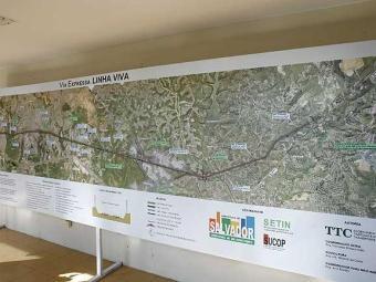Mapa da Linha Viva foi mostrado em audiência pública - Foto: Margarida Neide | Agência A TARDE