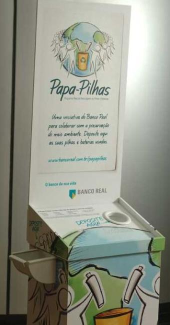 Ibama estabelece regras para descarte de pilhas - Foto: Banco Real   Divulgação