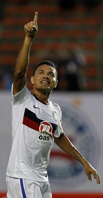 Gol de Helder iniciou a reação do Bahia sobre o Figueira - Foto: Eduardo Martins   Ag. A TARDE