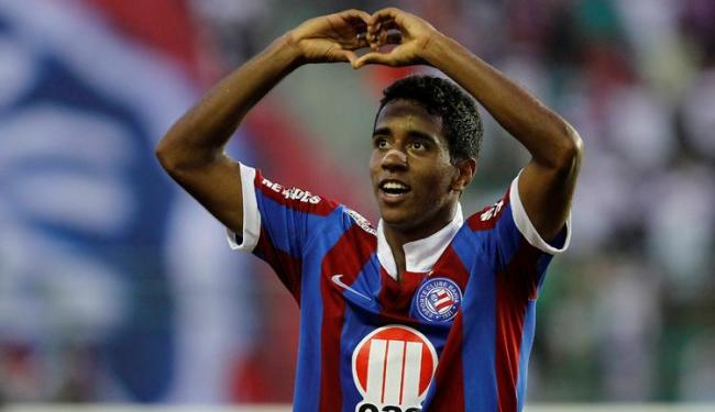 Gabriel marcou o gol decisivo numa linda jogada individual - Foto: Eduardo Martins | Ag. A TARDE