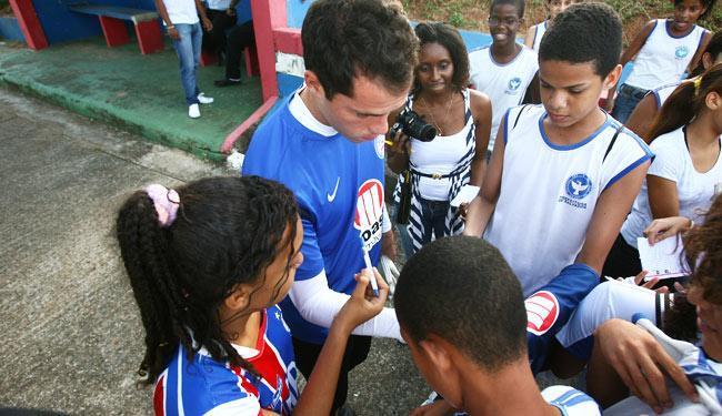 Jogador é um dos mais queridos pela torcida tricolor - Foto: Fernando Amorim | Ag. A TARDE