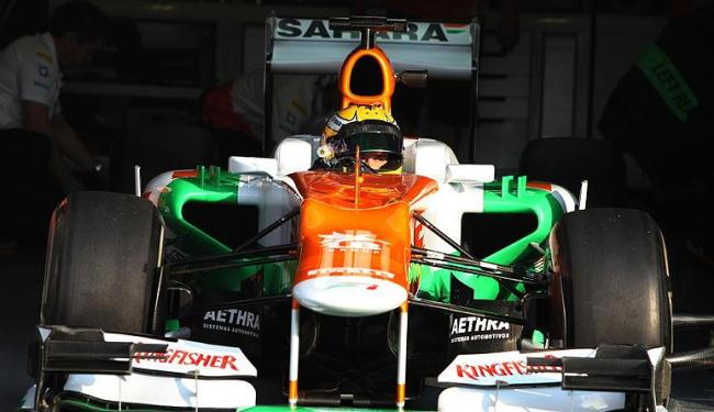 Luiz Razia deu 65 voltas na pista de de Magny Cours, na França, com o carro da Force India - Foto: Sahara Force India / Divulgação