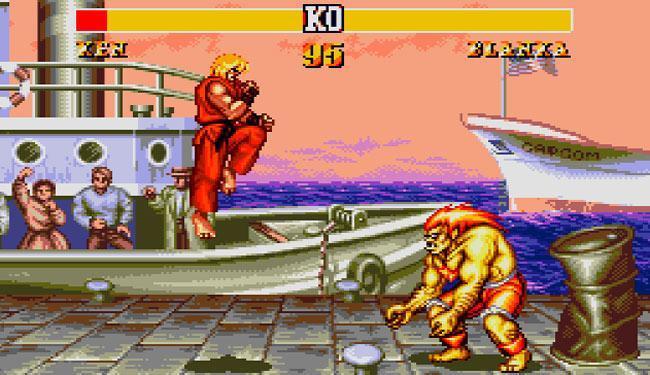 O jogo Street Fighter II foi um dos mais vendidos e fazia sucesso nos fliperamas - Foto: Reprodução