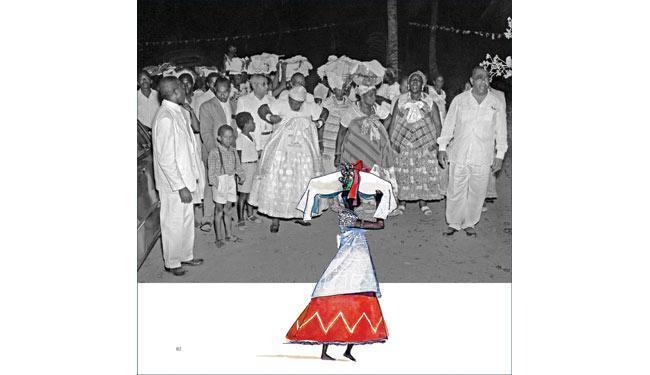 Fotografias e ilustrações se misturam nas páginas da trilogia - Foto: Reprodução