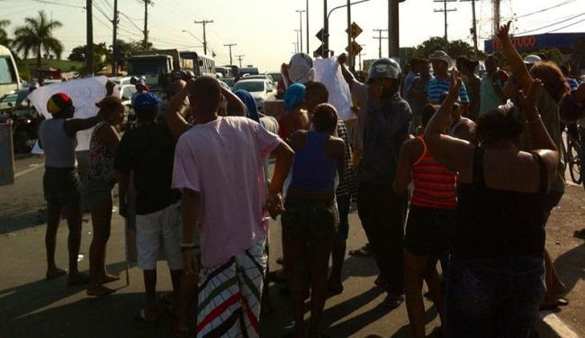 Morte de adolescente em operação policial foi a causa do protesto - Foto: Luciano da Matta | Ag. A TARDE
