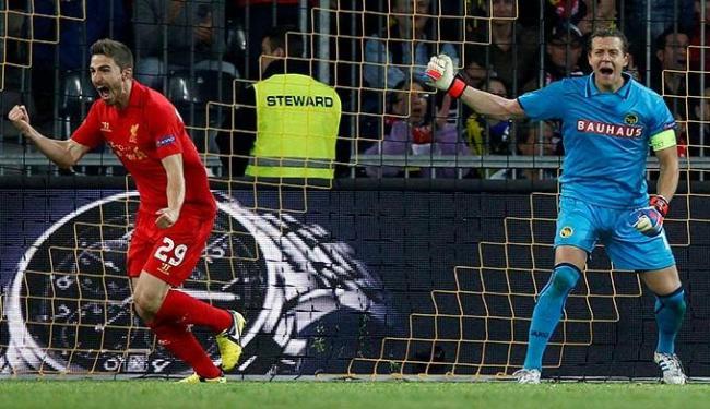 Em jogo de oito gols, Liverpool bate o Young Boys e larga na frente no Grupo A da Liga Europa - Foto: Peter Klaunzer | Agência Efe