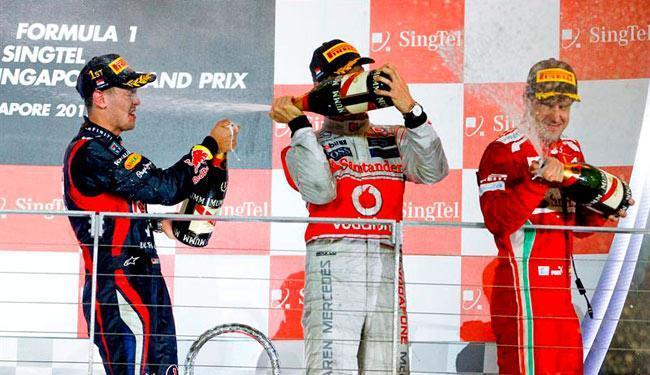 Vettel venceu, seguido por Button e Alonso - Foto: Agência Reuters