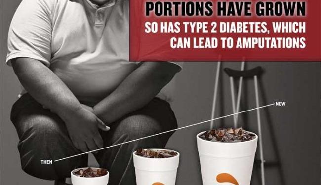 Nova Iorque cria anúncio para campanha de combate à obesidade - Foto: Divulgação | Agência Reuters