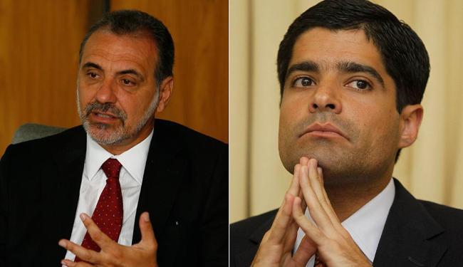 Em relação à última pesquisa, Pelegrino subiu sete pontos e Neto caiu oito - Foto: Marco Aurélio Martins e Eduardo Martins | Ag. A TARDE