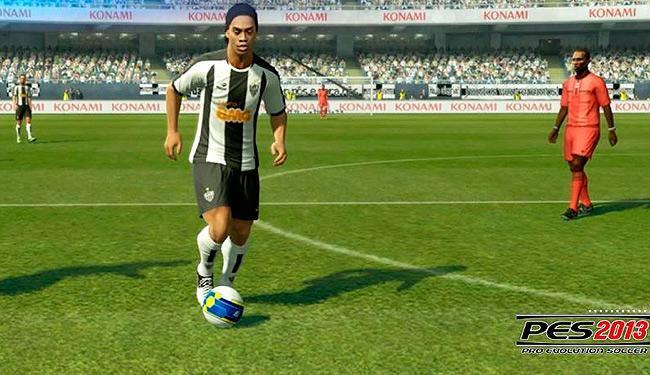 Pela 1ª vez, PES traz a Liga Brasileira e times como o Atlético-MG de Ronaldinho Gaúcho - Foto: Konami / Divulgação