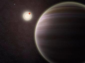 Planeta PH1 aparece em primeiro plano, à dir., com estrelas ao fundo - Foto: Haven Giguere/Yale University/Divulgação