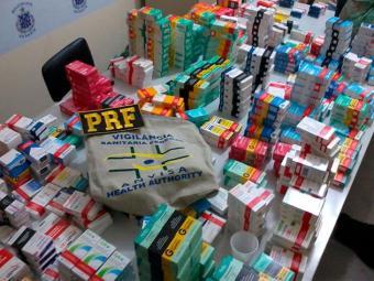 Remédios foram apreendidos após operação em cidades do interior - Foto: Divulgação | PRF