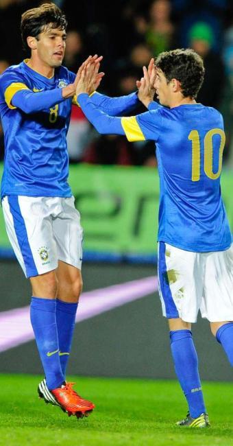 Na sua volta à Seleção, Kaká marca e ajuda Brasil a golear o Iraque por 6 a 0 - Foto: Bjorn Lindgren | Agência Reuters