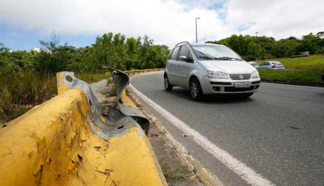 Alça de saida em direção ao CAB do viaduto Luis Eduardo Magalhães - Foto: Marco Aurélio Martins | Ag. A TARDE