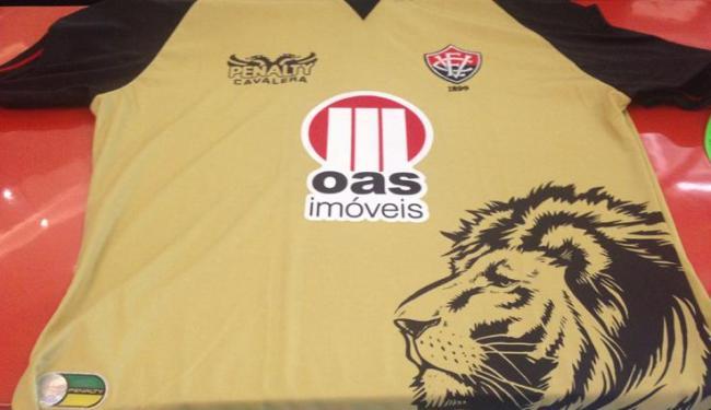 Camisa na cor dourada fará sua estreia no jogo contra o ABC, no Barradão - Foto: Lucas Cunha | Ag. A TARDE