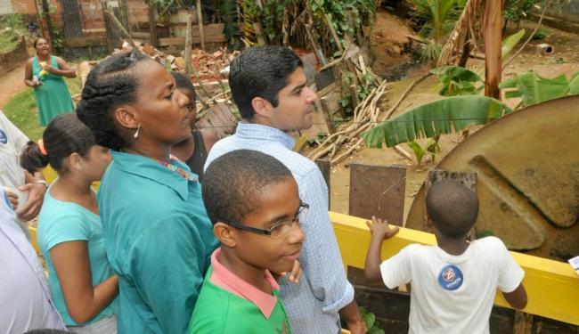 O candidato promete solucionar os alagamentos do bairro - Foto: Divulgação | Ag. A TARDE