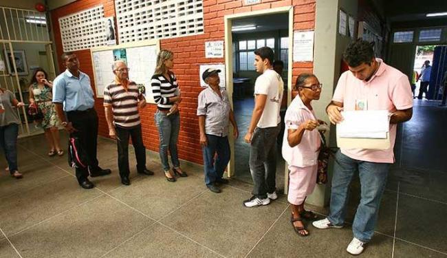 Começo da votação começou com tranquilidade - Foto: Fernando Amorim   Ag. A TARDE