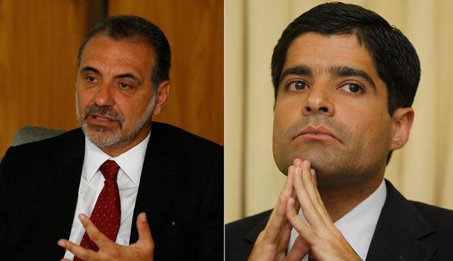 Em relação à última pesquisa Ibope, Pelegrino manteve-se com 43% e Neto cresceu 1% - Foto: Marco Aurélio Martins e Eduardo Martins | Ag. A TARDE