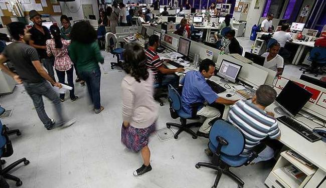 Estado natural da redação é a mudança constante - Foto: Raul Spinassé   Agência A TARDE