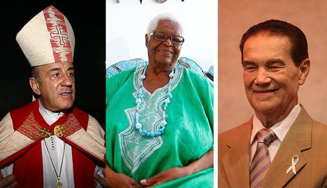 D. Murilo Krieger, Mãe Stella e Divaldo Franco escrevem semanalmente para o jornal - Foto: Agência A TARDE