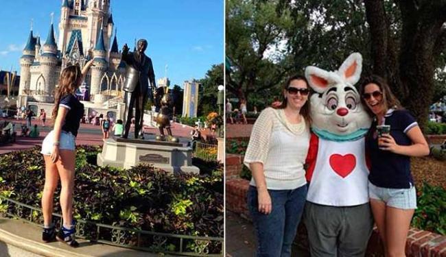Laisa deixou Walt Disney e Mickey doidos com o shortinho. E o ursinho também não tirou o olho das pe - Foto: Reprodução   Instagram