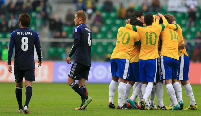 Com ataque eficiente, Brasil derrotou o ascendente Japão por 4 a 0 - Foto: Tobias Schwarz /Reuters
