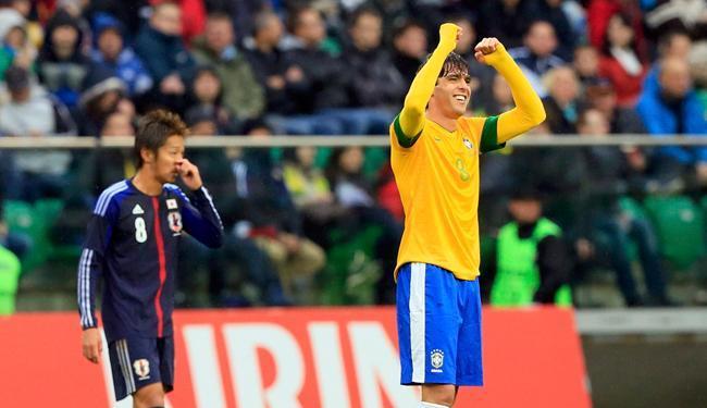 Kaká marcou seu segundo gol no seu segundo jogo após volta à Seleção Brasileira - Foto: Tobias Schwarz/Reuters