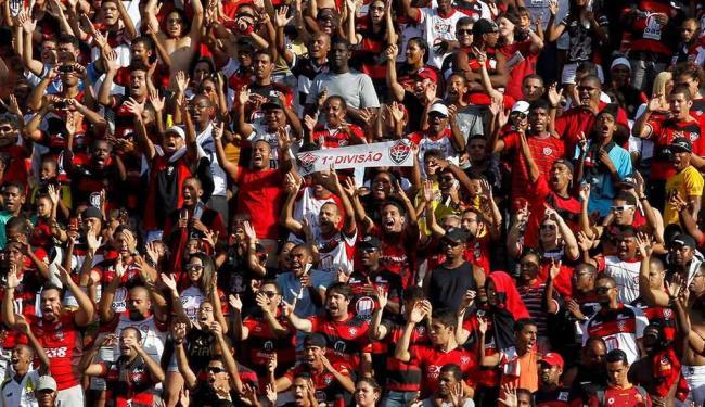 É para subir: confiante no acesso, torcida do Vitória deverá lotar o Barradão contra o Atlético-PR - Foto: Eduardo Ramos | Agência A TARDE