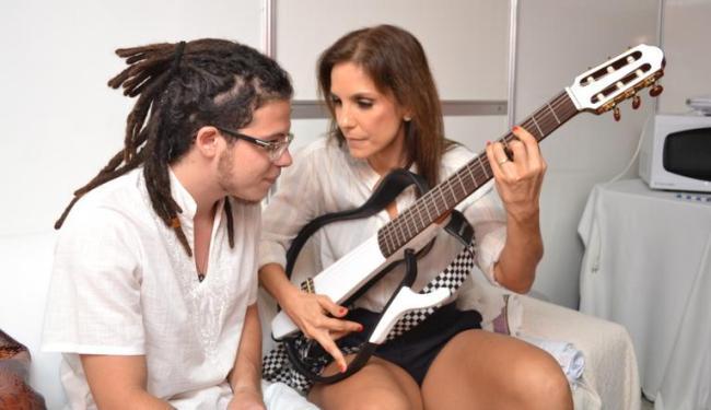 Ivete Sangalo e Hercinho Gouveia antes da apresentação - Foto: Felipe Souto Maior   AG Innovo   Divulgação