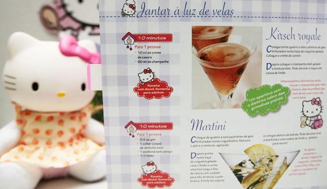 Peças da Hello Kitty trazem receitas com uísque, vinho e vodka - Foto: Mila Cordeiro | Ag. A TARDE