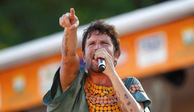 Cantor Saulo Fernandes, vocalista da banda Eva, faz show com Luiz Caldas - Foto: Eduardo Martins | Ag. ATARDE