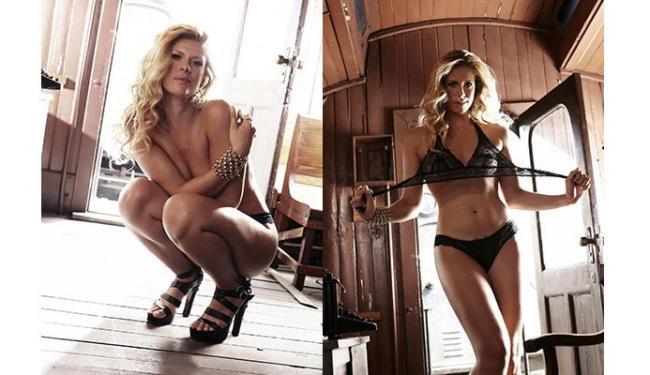 Rachel Gutvilen, de 30 anos, realizou o ensaio em um trem - Foto: Divulgação | Sexy